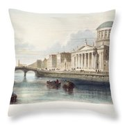 Dublin, 1842 Throw Pillow
