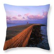 Dublin Bay, Co Dublin, Ireland East Throw Pillow