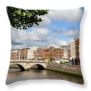 Dublin Cityscape Throw Pillow