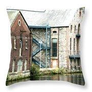 Dublin. Old Harbour Throw Pillow