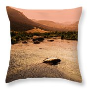 Dubois Sunset Throw Pillow