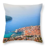 Dubrovnik Aerial View Throw Pillow