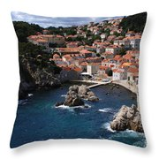 Dubrovnik By The Sea Throw Pillow