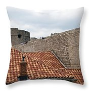 Dubrovnik View 4 Throw Pillow