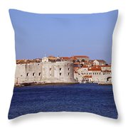 Dubrovnik View 5 Throw Pillow