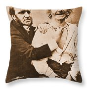 Duchenne Studying Physiognomy Throw Pillow by Science Source
