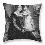 Duchess Of Kent & Victoria Throw Pillow