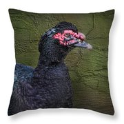 Duck Ala Grunge Throw Pillow