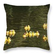Duck Derby Ducks Throw Pillow