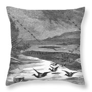 Duck Hunting, 1871 Throw Pillow