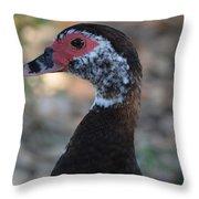 Duck Portrait Throw Pillow