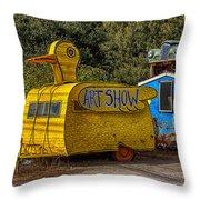 Duck Trailer Throw Pillow