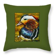 Duck Waddle Quack Throw Pillow