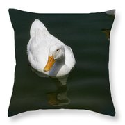 Ducking In Throw Pillow