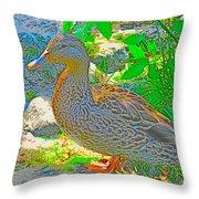 Duckside Throw Pillow