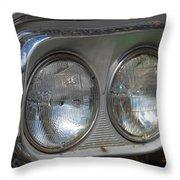 Duel Lights Throw Pillow