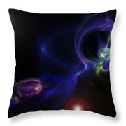 Dueling Galaxies Throw Pillow