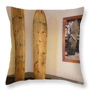 Duke Kahanamoku Surfboards Throw Pillow