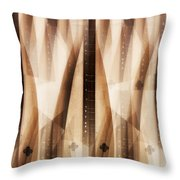 Dulcimer Abstract Throw Pillow