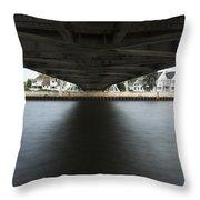 Duluth Lift Bridge Under 2 Throw Pillow