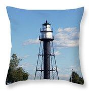 Duluth Mn Bridge Lighthouse Throw Pillow
