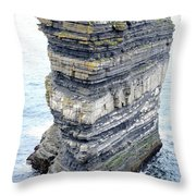 Dun Briste Throw Pillow by Marion Galt