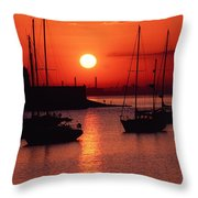 Dun Laoghaire Harbour, Co Dublin Throw Pillow