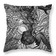Dundunba Dance - Guinea Throw Pillow