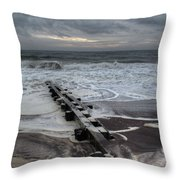 Dune Beach Winter Throw Pillow