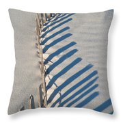 Dune Fence Graphic Throw Pillow