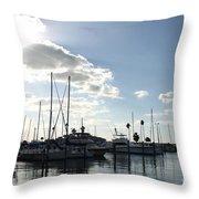 Dunedin Marina  Throw Pillow