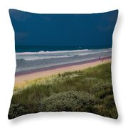 Dunes And Ocean Divided Throw Pillow