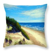 Dunes At Dalvay Throw Pillow