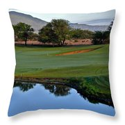 Dunes At Maui Lani 18th Fairway Throw Pillow