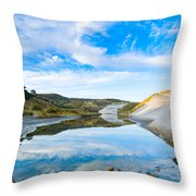 Dunes At The Beach Side During Morning  Throw Pillow