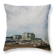Dungeness Power Station Throw Pillow