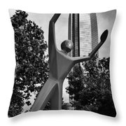 Dunking Over Devon Throw Pillow