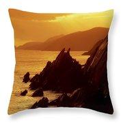 Dunmore Head, Dingle Peninsula, County Throw Pillow