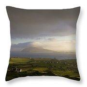 Dunquin, County Kerry, Ireland Vista Of Throw Pillow