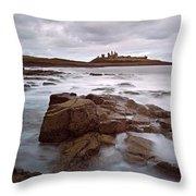 Dunstanburgh Castle II Throw Pillow