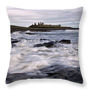 Dunstanburgh Castle Iv Throw Pillow