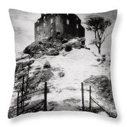 Duntroon Castle Throw Pillow by Simon Marsden