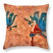 Duo Daisies - 02blt3dp1c Throw Pillow by Variance Collections