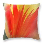 Duotone Tulip Blowing In The Wind Throw Pillow