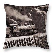 Durango And Silverton Steam Train Throw Pillow