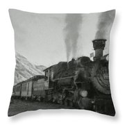 Durango Silverton Bw Painterly 2 Throw Pillow