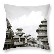 Durbar Square Patan Throw Pillow