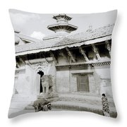 Durbar Square Throw Pillow