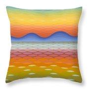 Dusk At Lake Balaton Throw Pillow
