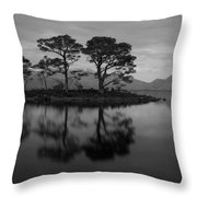 Dusk At Loch Maree Throw Pillow
